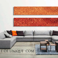 Modern Industrial Wall Art, Huge 2 panel CUSTOM Wall Art, Large Modern abstract Painting, Contemporary Industrial Painting - Orange, Red