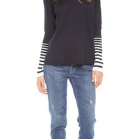 Placement Stripe Slub Sweater