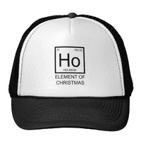 ho elements of christmas truckers hat