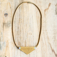 Spartan — Evoke Beads on Brass Necklace