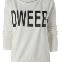 AX Paris Women's Cream Dweeb Sweat Cream Top