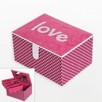 "Mele & Co. Polka-Dot ""Love"" Jewelry Box"