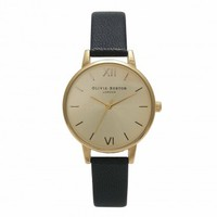 Midi Dial Black and Gold – Vintage inspired fashion watches by Olivia Burton