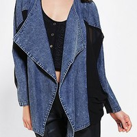 KC By Kill City Chiffon & Denim Mix Jacket - Urban Outfitters