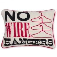 Jonathan Adler No Wire Hangers Needlepoint Throw Pillow