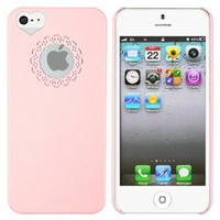 Designer Light Pink Sweet Heart Cover Back Hard Case For iPhone 5 5G 5th LTE