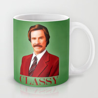 THE LEGEND OF RON BURGUNDY - Anchorman Mug by John Medbury (LAZY J Studios)
