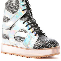 The Rodman Sneaker in Silver Snake and Hologram