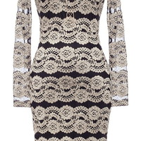 Modern Minx Dress | Metallic Brocade Long-Sleeve Lace Dresses | Rickety Rack
