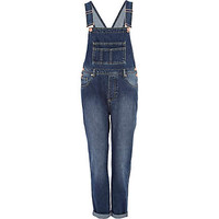 MID WASH DENIM OVERALLS