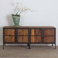 Hyderabad Reclaimed Wood and Metal Buffet (India)