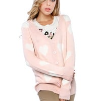 SWEET HEART KNIT CARDIGANS