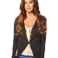 BUTTON DOWN SLEEVE CARDIGAN
