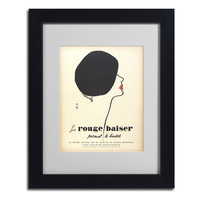 Vintage Apple Collection 'Le Rouge Baiser' Framed Matted Art