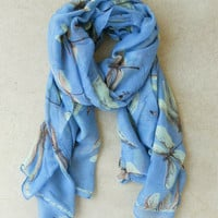 Blue Dragonfly Scarf [4804] - $16.00 : Vintage Inspired Clothing & Affordable Dresses, deloom | Modern. Vintage. Crafted.