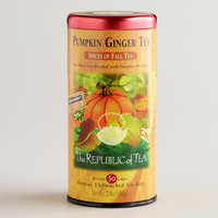 The Republic of Tea Pumpkin Ginger Black Tea, 50-Count