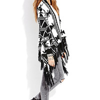 Geo Girl Draped Cardigan