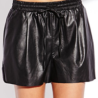 Favorite Faux Leather Dolphin Shorts