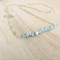 Sterling Silver Larimar Necklace | Meylah