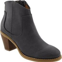 Women's Textured Short-Zip Boots