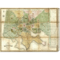 Fielding Lucas 'Baltimore, Maryland, 1852' Stretched Canvas Art