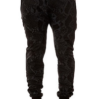 The Harem Sweatpants in Snakeskin