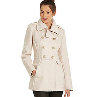 Guess Boucle Military Peacoat | Dillards.com
