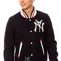 The Giant Varsity Jacket in Navy