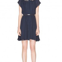 alice + olivia | EMMA PETER PAN COLLAR DRESS
