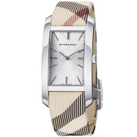 Burberry Women's 'Heritage' Silver Dial Nova Check Strap Watch