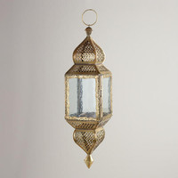 Medium Clear Kamali Hanging Lantern