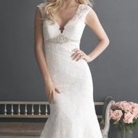 V-Neck Laced Gown by Allure Bridals Romance