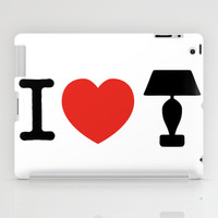 I LOVE LAMP iPad Case by John Medbury (LAZY J Studios)