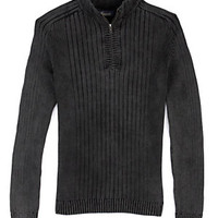 Roundtree & Yorke Casuals Quarter-Zip Acid-Wash Sweater | Dillard's Mobile
