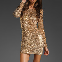 Motel Gabby Sequin Dress in Skin