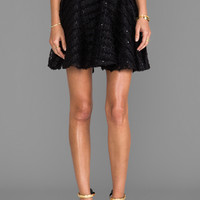 Milly Emb Tulle Skirt in Black