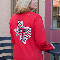 Chevron State Red Long Sleeve