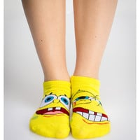 Spongebob Mix And Match No Show Socks 5 Pk