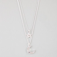 FULL TILT 2 Row Star & Moon Necklace