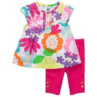 Carters Girls 2T-4T Pink Tropical Tunic Carpi Legging Set