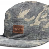 Unisex Washed Camo Five Panel Hat - Camo