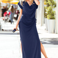 Side-ruched Knit Maxi Dress - Supermodel Essentials - Victoria's Secret