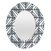 Heather Dutton Facets Optic Oval Mirror