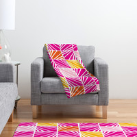 Heather Dutton Facets Bright Fleece Throw Blanket