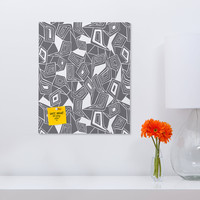 Heather Dutton Fragmented Grey Rectangular Magnet Board
