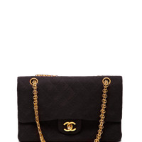 Chanel Black Quilted Jersey 2.55 Bag With Bijou Chain by Vintage Chanel for Preorder on Moda Operandi