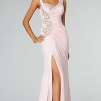 Floor Length Sleeveless Ruched Dress