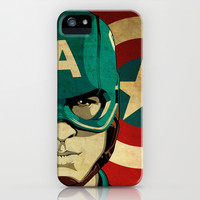 Captain America iPhone & iPod Case by Jeff Nichol Art