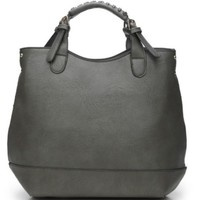 Luxury Grey Shoulder Tote Bag