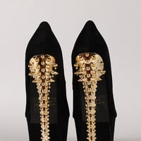 Fahrenheit Dior-05 Suede Spike Stiletto Platform Pump